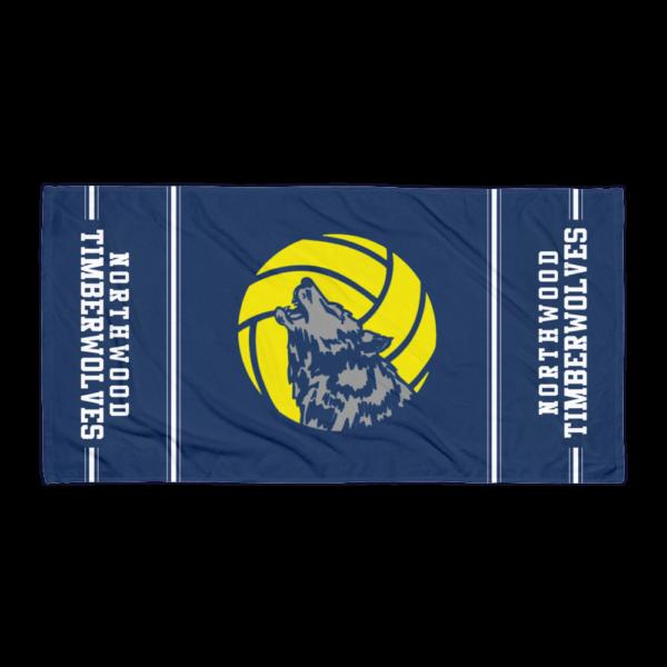 Timberwolf Logo Beach Towel