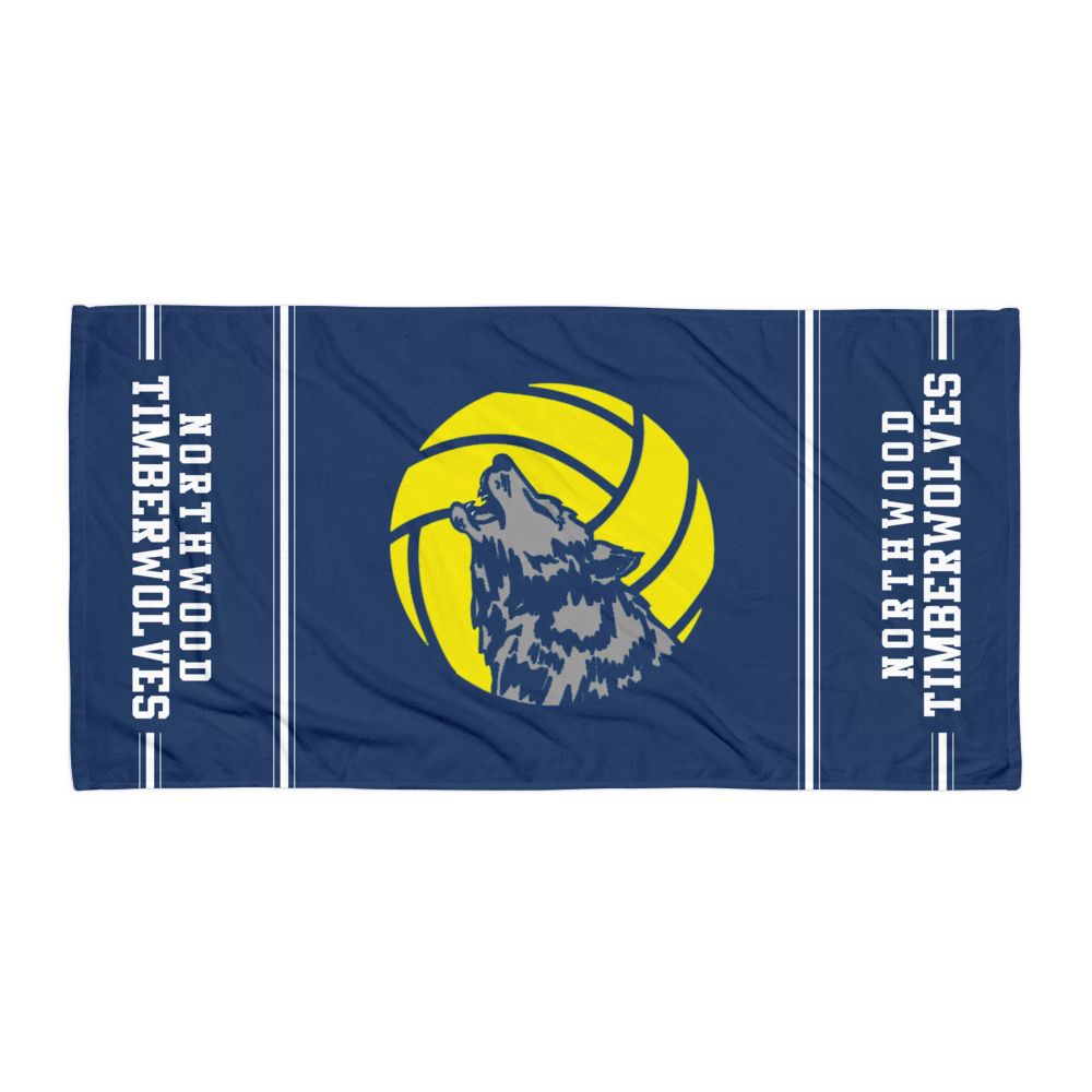 Timberwolf Logo Beach Towel